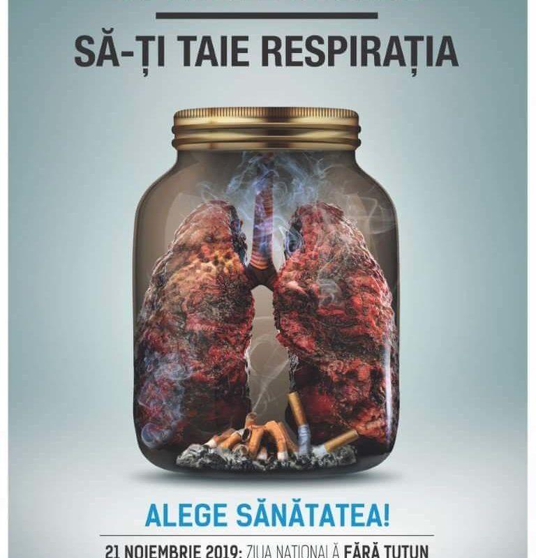 Nu lăsa tutunul să-ți taie respirația! Alege sănătatea!